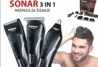 Aparati za brijanje - Srbija: SONAR 3u1 set ⚀ Trimovanje ⚁ Brijanje ⚂ Šišanje  AKCIJSKA cena 2250