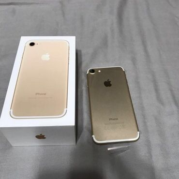 apple iphone 4 32gb в Кыргызстан: Б/У iPhone 7 128 ГБ Золотой