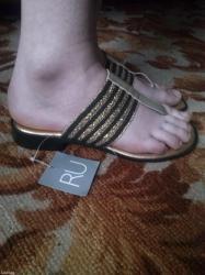 Сандали-шлепки золото-черные женскиеразмер 37новые. Привезли с