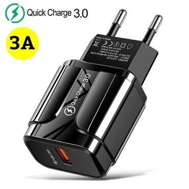 Brzi punjac za mobilni telefon 18W 3A QC 3.0 (NOVO!) Specifikacije:-QC