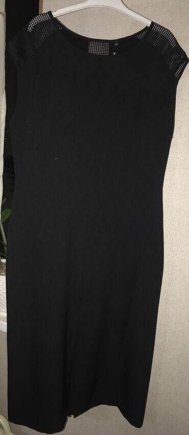 вечерние платья 50 размера в Кыргызстан: Вечернее чёрное платье футляр ниже колен новое не одевала размер