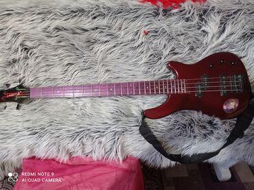 инструменты в Кыргызстан: Бас гитара, Human, состояние нового инструмента!более подробные фото