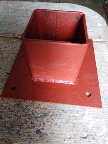 Strug za metal - Srbija: Metalne stope za drvene stubove,osnovna ploča debljine 4 mm x 200mm x