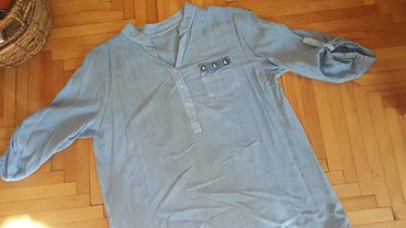 Kosulja-svilena-teget-plava - Srbija: Plava kosulja  l/xl
