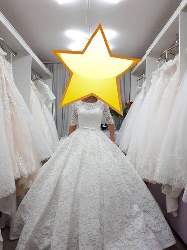 атласное платье со шлейфом в Кыргызстан: Срочно продаю свадебное платье, носила один раз, сделано химчистка раз