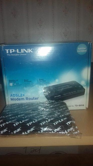 TP-LINK Modem TD-8816 Satılır Aşaqı qiymet 35 manat olacaq onan в Bakı