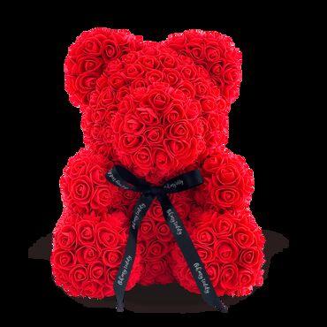 что подарить девушке на др в Кыргызстан: Мишка из роз! хит 9!+бесплатная доставка поМишка из искусственных 3D