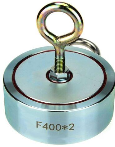 1054 объявлений: Поисковый неодимовый магнит. Двухсторонний, 400 кг. Сила сцепления по