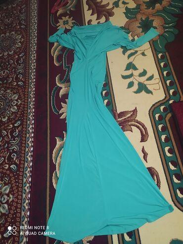 Продаю летнее длинное бирюзовое вечернее платье -русалка  Очень красив