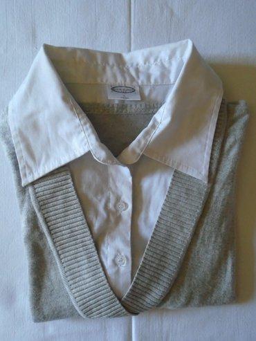 Sivo- beli, dzemper/košulja strane proizvodnje, elegantan a prijatan. - Beograd