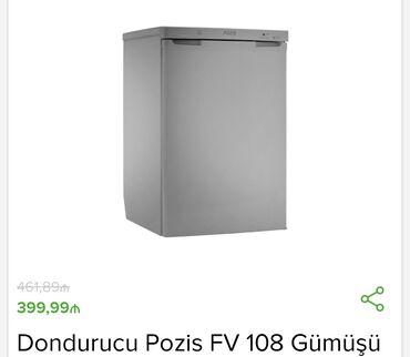 dondurucu - Azərbaycan: İstehsalçı - Pozis Tip - Dondurucu Ölçülər sm - 85x54x55 Enerji