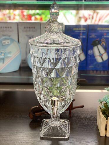 Другая посуда - Кыргызстан: Новинки!!! Лимонадницы стеклянные прозрачные с крышкой!!! От 1.8 л до