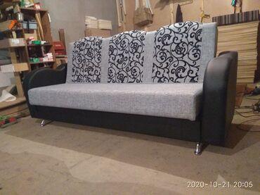 Мебель - Кыргызстан: Новые раскладные диваны деревянные качественные размеры 120/215