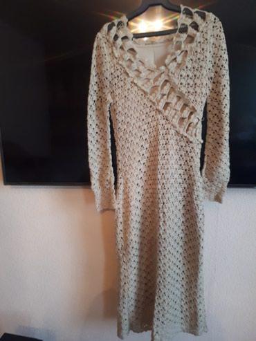 Вязанное платье 42-44 размер надевала 1 раз.Цве бежевый в Бишкек