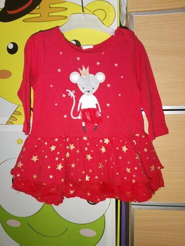 Dečija odeća i obuća - Smederevska Palanka: H&M, novogodisnja haljina za bebe. Vel 68 ali je veći model. Imate