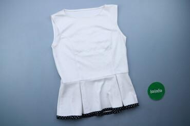 1537 объявлений: Жіноча блузка з баскою р. XS   Довжина: 56 см Напівобхват грудей: 40 с