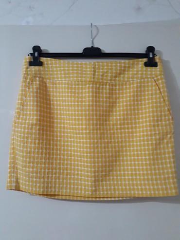 Pamucna,postavljena suknjica,kosih dzepova,duz.40 cm,struk.43 - Smederevo