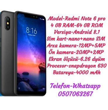 Xiaomi Redmi note 6 pro в Gəncə