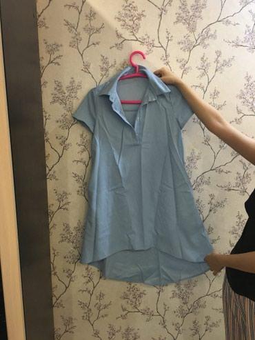 Голубое платье - рубашка! в Бишкек
