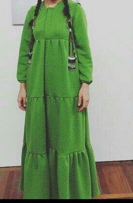 Теплое платье в пол! модный фисташковый😎 в Бишкек