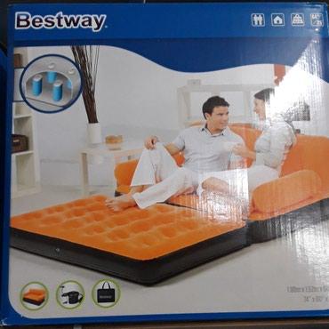 Xırdalan şəhərində Bestway 2 nəfərlik həm divan həm çarpayı 1.88×1.52×64