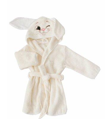 Детский банный халат зайчик . 70-80 см. Есть расцветки