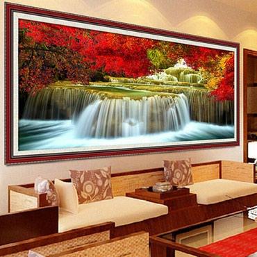 """""""Водопад"""" - неоконченная картина 5Д из в Бишкек"""