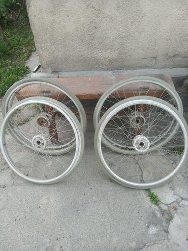 Инвалидные коляски - Кыргызстан: Колеса для инвалидной коляски, передние и задние, цена отдельная