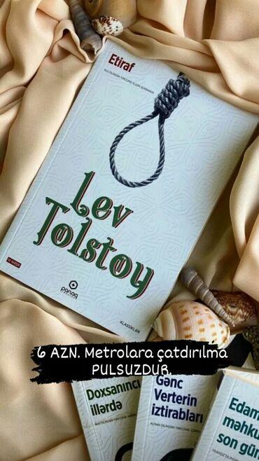 Lev Tolstoy - Etiraf (6 AZN). Başqa kitablarda var. Bütün elanlarıma