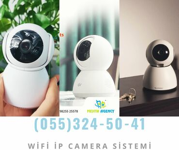 İp wifi kamera kabelsiz✓Zemanet Verilir.Catdirilma xidmeti