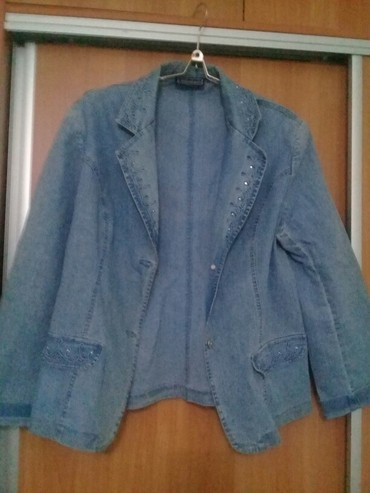 синий пиджак женский в Кыргызстан: Джинсовый пиджак, 300 сом
