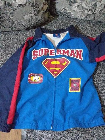 Dečije jakne i kaputi | Velika Plana: Decija supermen jakna za prolece,vel 6-7 god,kao nova