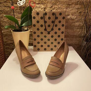Ženska obuća   Beograd: TOTALNA RASPRODAJA, CENA 500!!!!Nove tamno braon cipele broj