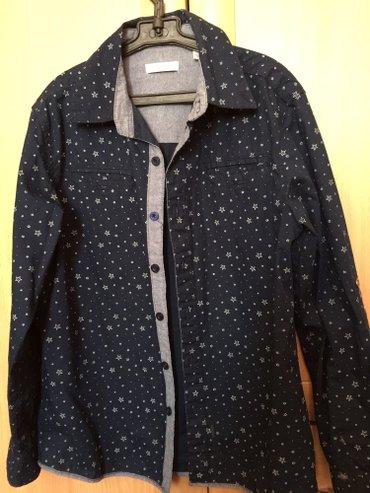 Рубашка на 10 лет, х/б+джинса , сост отл, цена 350 сом в Бишкек