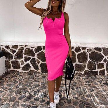 Haljine   Barajevo: Divan model haljine od rebrastog pamuka  Cena: 850 din