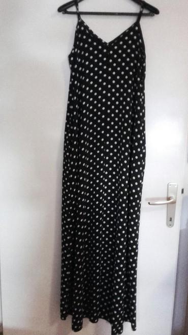 Duga od zorzeta na tufne letnja haljina sa dzepovima sa strane - Crvenka