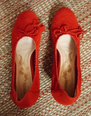 Замшевые красные туфли 39 размера, очень женственные,  Новые. в Бишкек