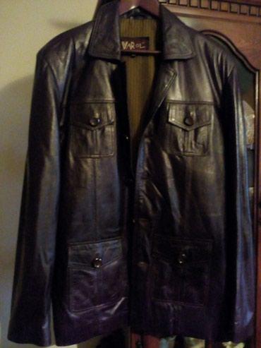 Kozna nova muska jakna velicine XL, boja kao na slici. Meka koza vrlo - Crvenka