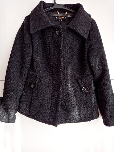 Crni kaput - Srbija: Crni strukiran kaput nosen ali ocuvan intenzivno crne boje