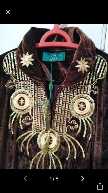 Платье бархатное новое с вышивкой золотом, очень качественное и