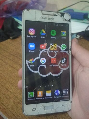 Samsung Galaxy Grand Dual Sim | Б/у | Трещины, царапины, Сенсорный, Две SIM карты