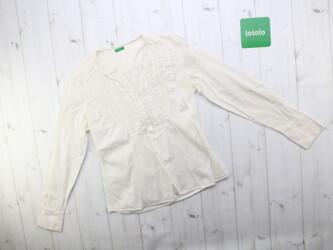 Женская белая рубашка Benetton Длина: 51 см Рукав: 54 см Пог: 36 с Пот