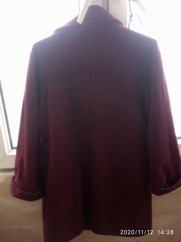 П/пальто Б/у размер 44-46 цена 250 с.цвет бардовый