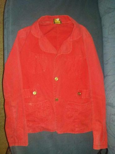 Zenska-jaknica-sako - Srbija: Crvena jaknica/sako od kepera