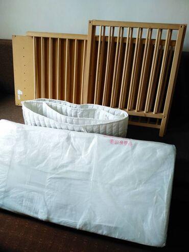 """бу детские кроватки в Кыргызстан: Кроватка для младенцев от """"Икеа""""модель Синглар Бук 8"""