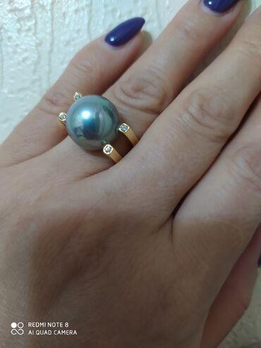 диски воссен 17 в Кыргызстан: Шикарное кольцо с жемчугом Майорка-Испания серебро в лимонной позолоте