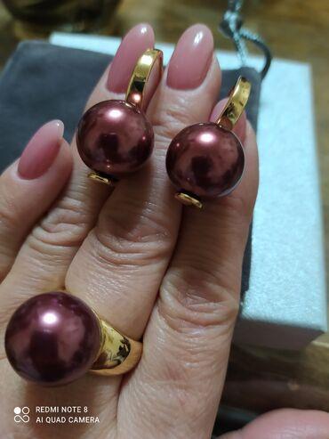 Украшения - Бишкек: Шикарный набор с крупным жемчугом Майорка-Испания, изумительного