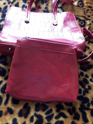 Сумка, в комплекте маленькая сумочка, цена 500 сом