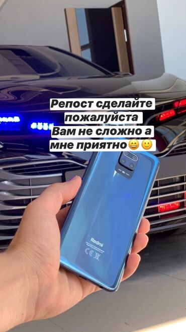 redmi-note-8-pro-бу в Кыргызстан: Новый Xiaomi Redmi Note 9 64 ГБ Черный