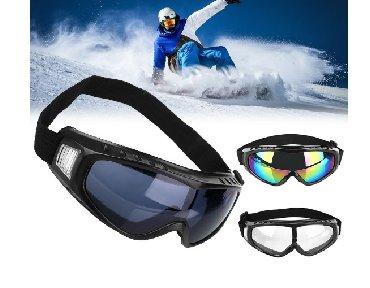 Muske naocare - Srbija: Nacare za skijanje novonove naocare za skijanje, staklo crne i multi